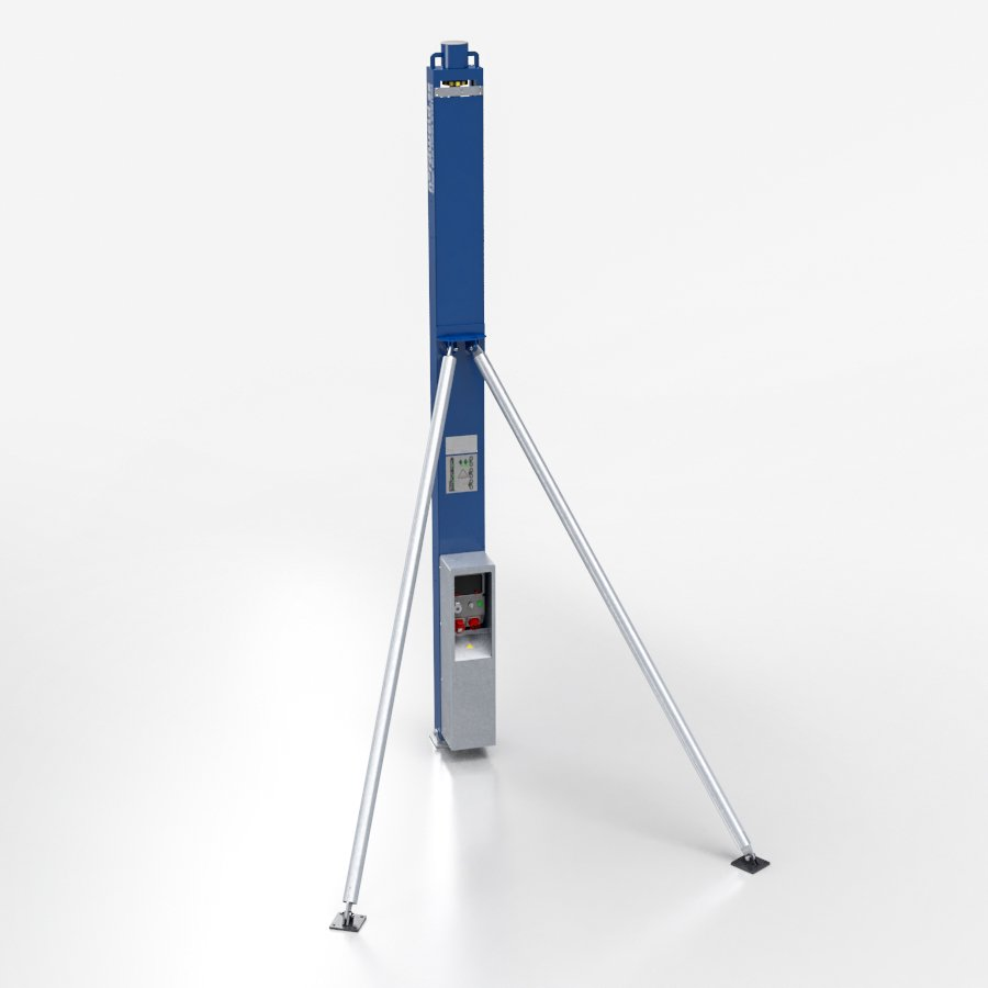 Nordweld Lift Jack for building from prefabricated sheets