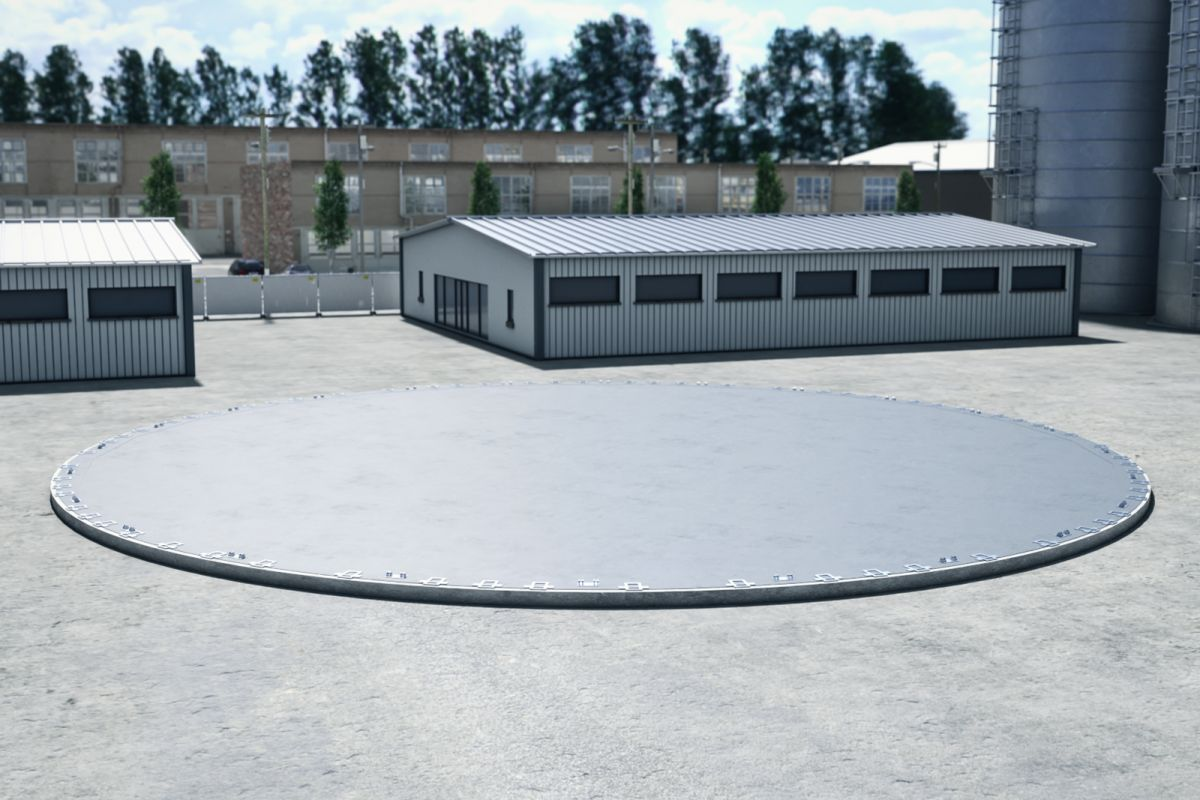 Foundation required for Nordweld Tank Building System